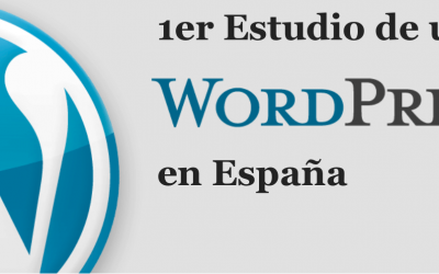 1er Estudio de uso de WordPress en España